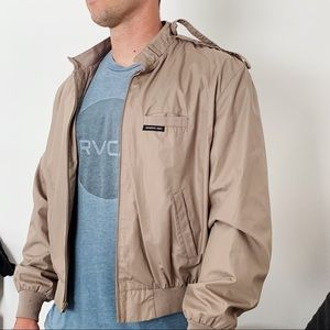 Members Only  Vintage Men's Tan Jacket Size Large